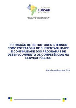 FORMAÇÃO DE INSTRUTORES INTERNOS COMO