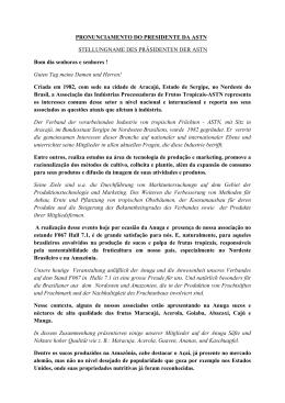 Stellungnahme des Präsidenten ASTN