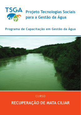 RecuPeRação de maTa ciliaR - Repositório Institucional da UFSC