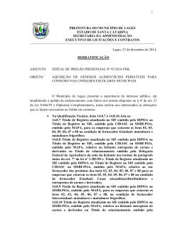 prefeitura do município de lages estado de santa catarina secretaria