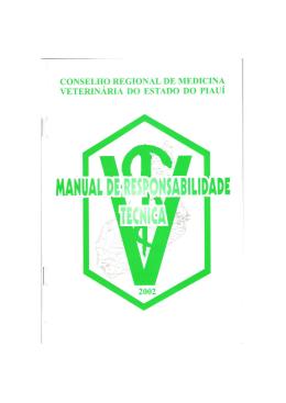 Manual de Responsabilidade Técnica – Clique para - CRMV-PI