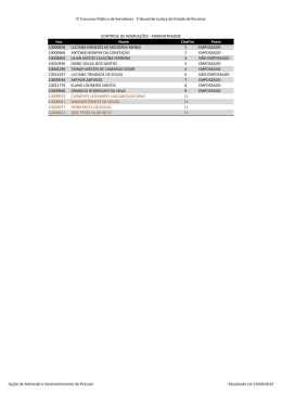 7. Controle de Nomeações - SET15 - Tribunal de Justiça do Estado