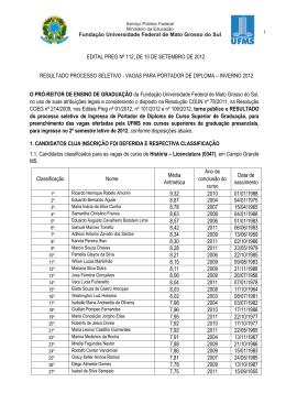 Portador de Diplomas UFMS 2012 - Copeve
