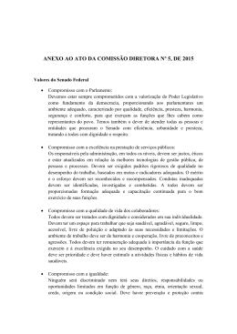 ANEXO AO ATO DA COMISSÃO DIRETORA Nº 5