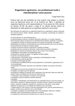 Engenheiro agrônomo: um profissional multi e - Seagro-SC