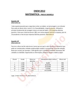 Resolução Matemática ENEM 2012