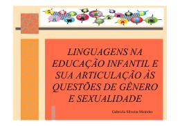 LINGUAGENS NA EDUCAÇÃO INFANTIL E SUA ARTICULAÇÃO