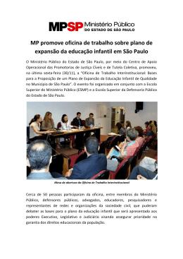 MP promove oficina de trabalho sobre plano de