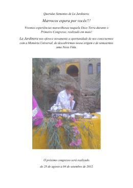 Convite: Marrocos espera por vocês!!!