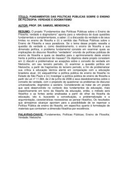 título: fundamentos das políticas públicas sobre o ensino de filosofia
