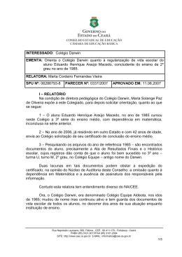 Parecer 0337/2007 - Conselho de Educação do Ceará