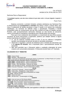 COLÉGIO PASSIONISTA SÃO JOSÉ EDUCAÇÃO INFANTIL