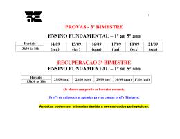 PROVAS - 3º BIMESTRE ENSINO FUNDAMENTAL