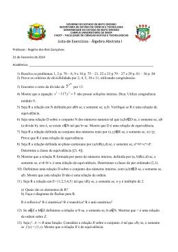 Lista de Exercícios - Álgebra Abstrata I