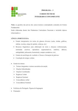 PROGRAMA – 3 CURSOS TÉCNICOS INTEGRADO E