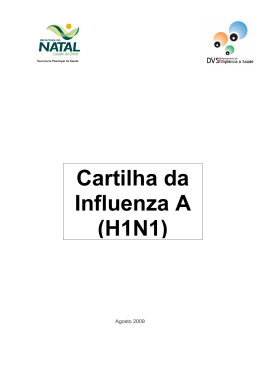 Cartilha da Influenza A (H1N1) - Prefeitura Municipal do Natal