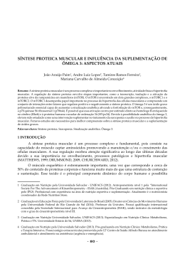 síntese proteica muscular e influência da suplementação