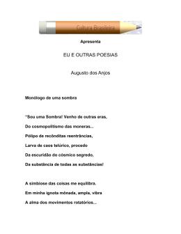Eu e outras poesias - Augusto dos Anjos (em PDF)