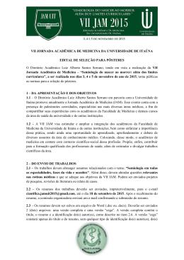 VII JORNADA ACADÊMICA DE MEDICINA DA