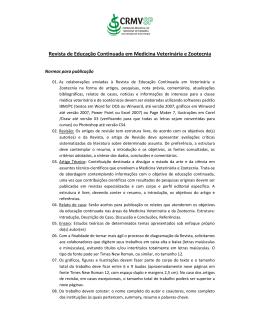 Normas para a publicação - CRMV-SP
