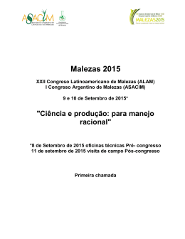 Malezas 2015 - ASACIM.com.ar