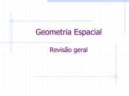 Matemática - 2ª série - Geometria Espacial