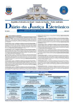 PODER JUDICIÁRIO ESTADUAL Órgãos Julgadores