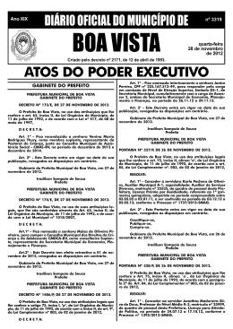 dom nº 3319.pmd - Prefeitura Municipal de Boa Vista