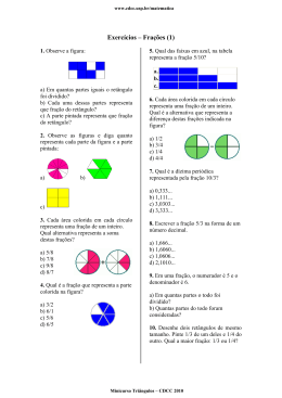 Exercícios – Frações (1)