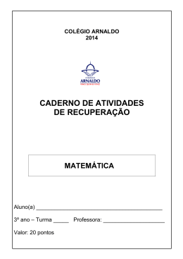matemática - Colégio Arnaldo