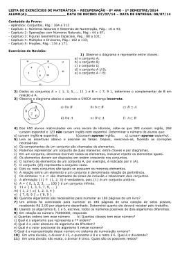 314_LISTA DE REC MAT 6º ANO 1º SEM 2014