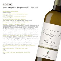 Sobro white 2013 - Oakley Wine Agencies