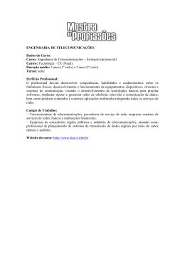 ENGENHARIA DE TELECOMUNICAÇÕES Dados do Curso