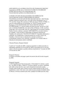 aditamento ao acordo coletivo de trabalho 2008/2010