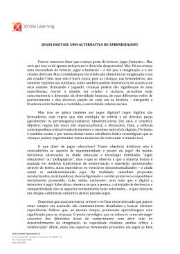 JOGOS DIGITAIS: UMA ALTERNATIVA DE APRENDIZAGEM