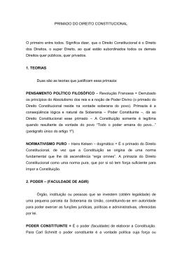 PRIMADO DO DIREITO CONSTITUCIONAL