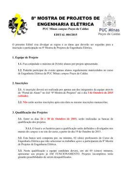 8ª MOSTRA DE PROJETOS DE ENGENHARIA ELÉTRICA