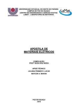 Introdução a materiais em Engenharia Elétrica