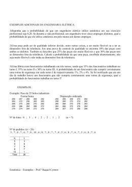 Estatística – Exemplos – Prof.ª Raquel Cymrot