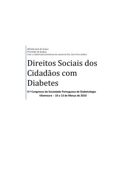 Direitos sociais das pessoas com Diabetes