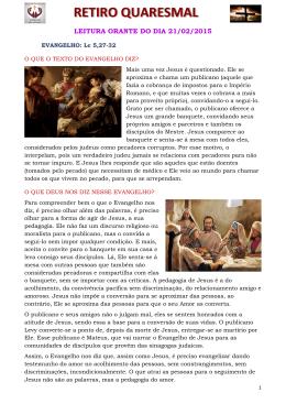 leitura orante do dia 21/02/2015