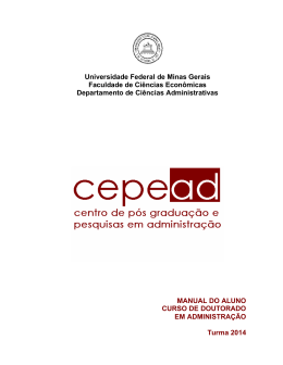 Manual do Aluno - Cepead - Universidade Federal de Minas Gerais