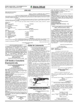 Diário Oficial LCR Gestão e Consultoria Empresarial Ltda.