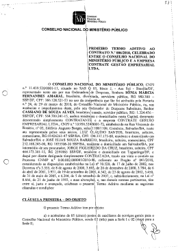1º Termo Aditivo - Conselho Nacional do Ministério Público