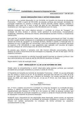 Contabilidade e Assessoria Empresarial Ltda. NOVAS
