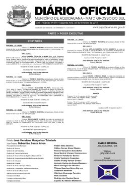Edição Nº 014 - Prefeitura Municipal de Aquidauana