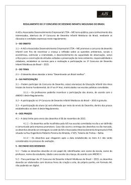 Regulamento do Concurso - AJS