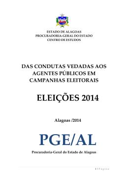 ELEIÇÕES 2014 - Procuradoria Geral do Estado