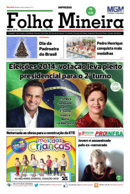 Eleições 2014: votação leva pleito presidencial