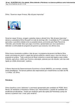 29 set - ELEIÇÕES 2014: Em debate, Dilma defende a Petrobras e